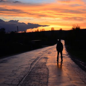 Dramatic sunset after the rain in Macedonia