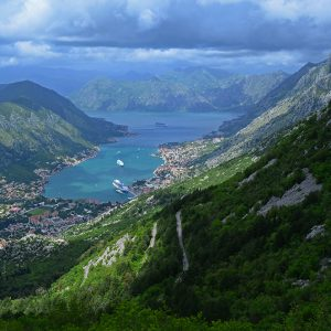 Looking down the Kotor in Montenegro