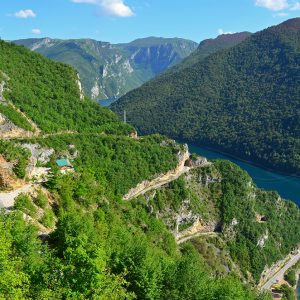 Going down hill to Piva