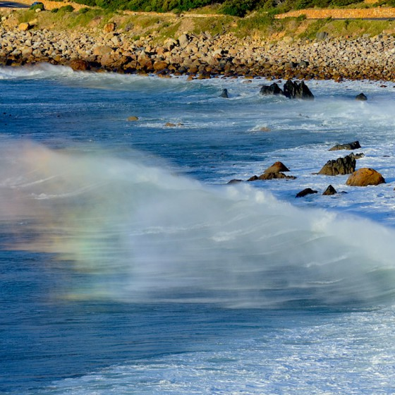 Magical rainbow wave