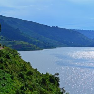 Cycle by Lake Bunyonyi