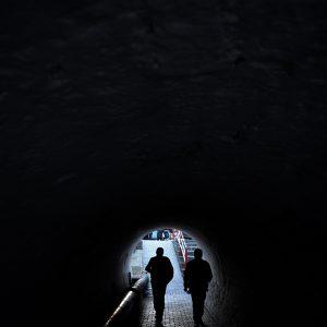 A walking tunnel