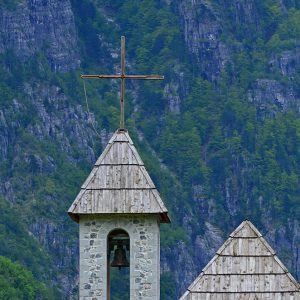 Old church in the isolate valley in Albania