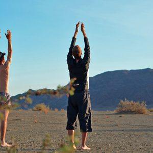 Lets Yoga in the desert