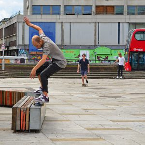Back to skateboard in Croydon, England
