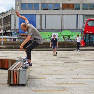 Back to skateboard in Croydon, England
