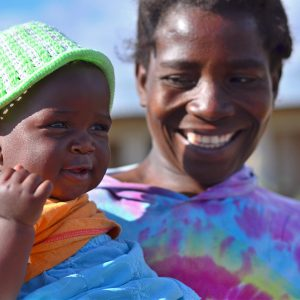 A mum and a baby in Malawi