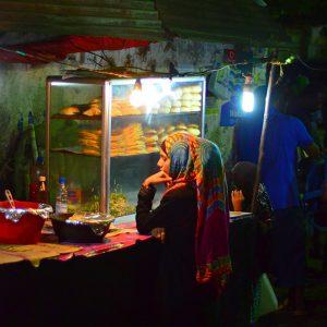 A girl in the night market in Zanzibar