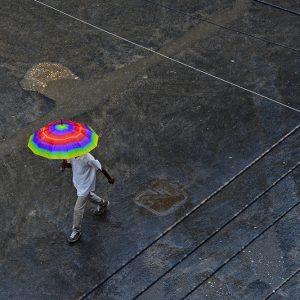 Rainbow in the rain in Dar es Salaam