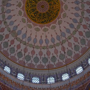 A mosque celling in Istanbul