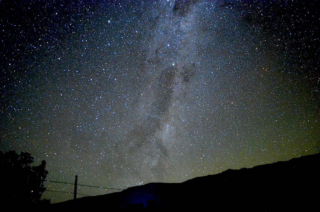 夜は満天の星空