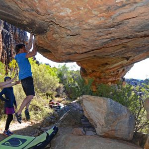 Bouldering in Rockland, South Africa