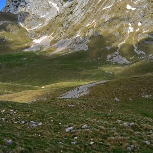 Great downhill in Durmitor mountain