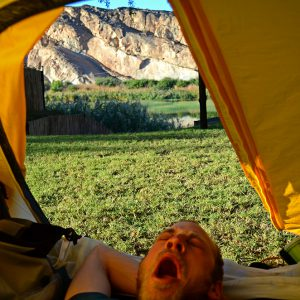 Good morning from the tent.