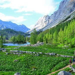 Trekking in Julian alps, Slovenia