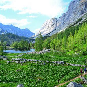 Trekking in Julian alps, Slovenia