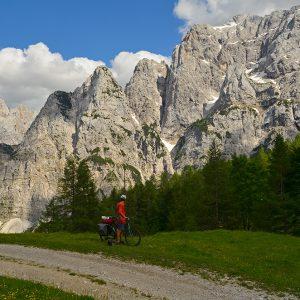 Rocky mountains in Julian alps, Slovenia