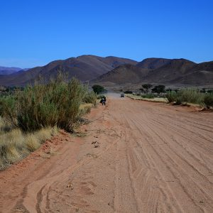 One of the hardest day in our trip. Pushing the deep sand is not fun in Namibia