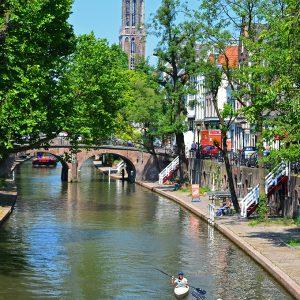 Canoeing through Utrecht, Holland