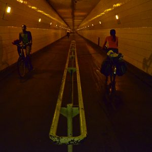 Cycling tunnel in Belgium