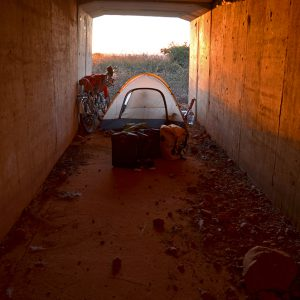 Secret camp spot under the motorway