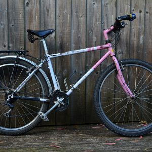 Mayu's bike afrer 12,000km journey