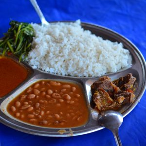 Typical food in East Africa