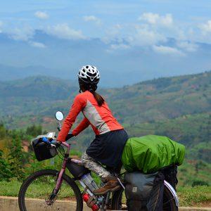 Never straight flat road in Rwanda