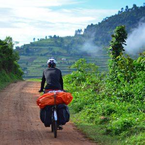 The last of the morning mist in Uganda