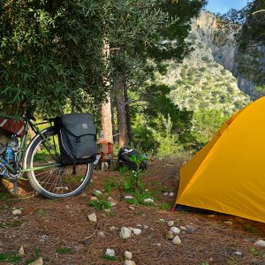 Camping in an olive grove in Southern Turkey