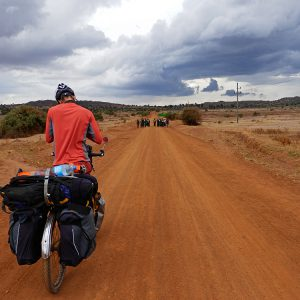 Cycling into the storm in Tanzania